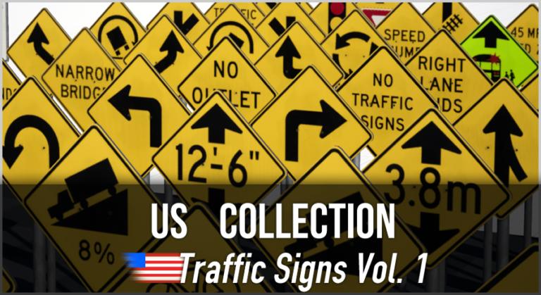 US Collection: 3D Traffic Signs Vol. 1 - Bild