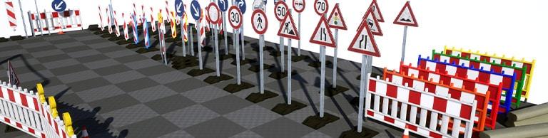Artikelbild - German Traffic Signs Vol. 4 Unreal Engine Asset Pack