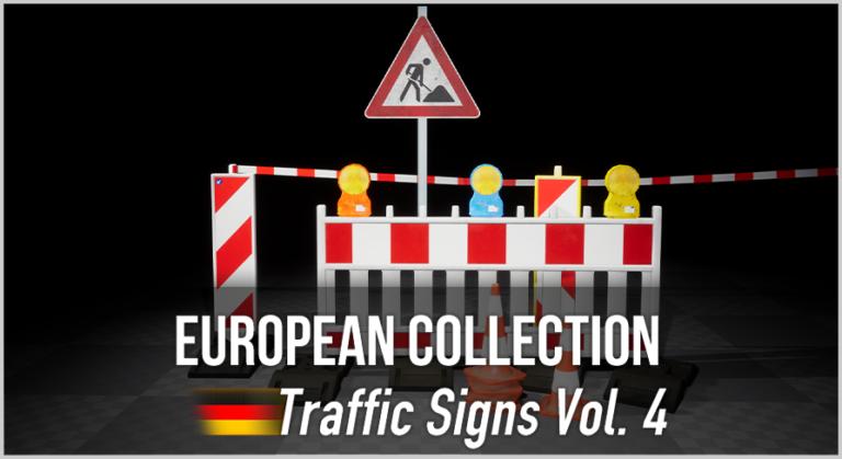 German Traffic Signs Vol. 5 - 3D Asset Pack - Bild