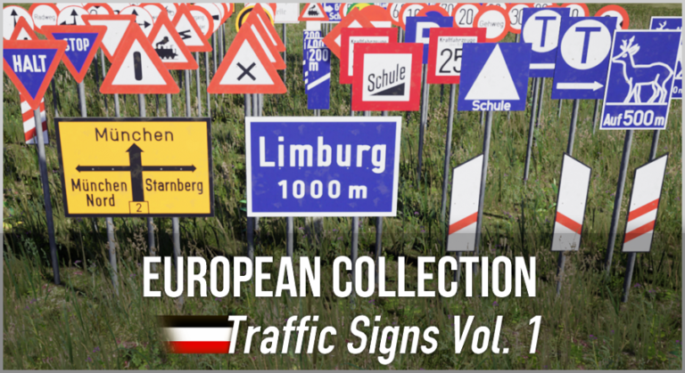 German WW2 Traffic Sign Pack - Unreal Asset Pack