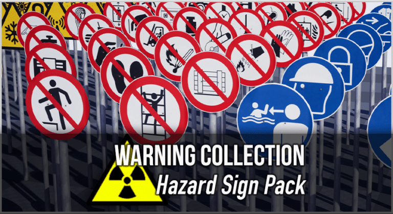 Unreal Engine Warning Sign Collection