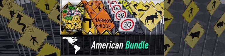 American Traffic Sign Bundle – 399 Signs