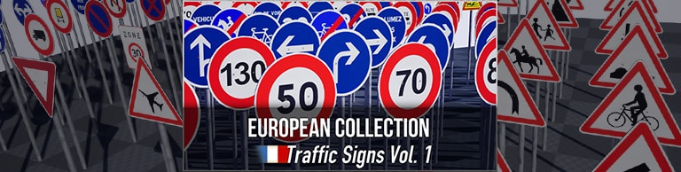 Artikelbild - French Traffic Sign Pack - Unreal Engine Marketplace