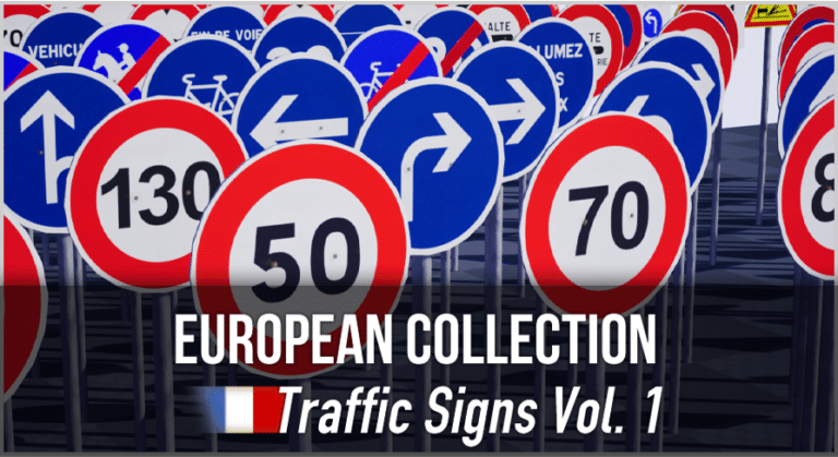 French Traffic Sign Pack - Unreal Asset Pack